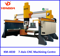 3D Stone Engraving Machine, 7-Axis CNC Machining Centre of Stones For marble, granite, limestone, masaic, metals, glass