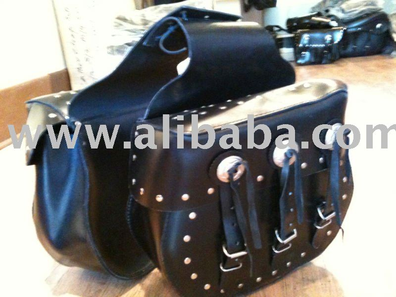 Leather Motorbike Luggage Bag