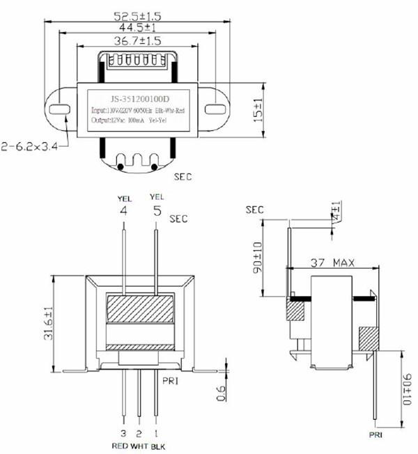 110v 220v power supply ac adaptor class 2 transformer plug