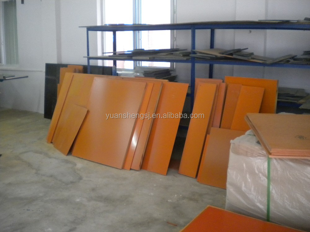 bleached pulp paper with phenolic resin formed bakelite sheets ,orange black phenolic laminated boards