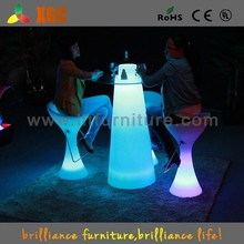 New arrived fashional glass bar table/bar desk/led cocktail table