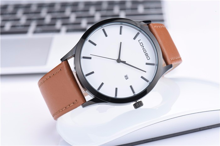 Longbo new fashion style stainless steel back japan quartz movement custom logo watches bulk watch for valentine day gifts
