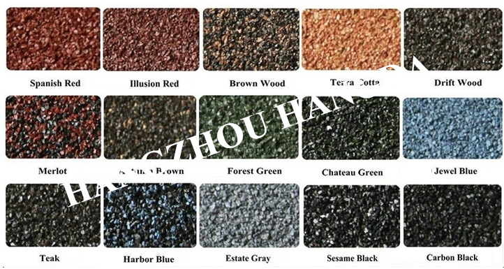 Korean quality cheap price stone coated metal roofing tile