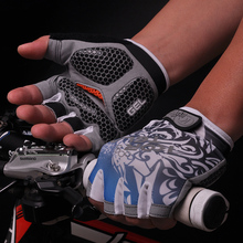 2016 sports half finger Cycling Bike Bicycle synthetic leather gloves latex