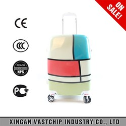 Favorable price simply design cute colorful pattern kids pc trolley luggage