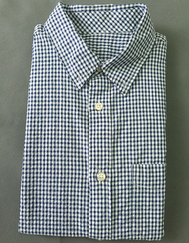 no name short sleeve check shirt for man