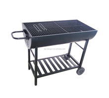 Half Oil Drum Charcoal Grill BBQ Stand Large Charcoal BBQ Grills