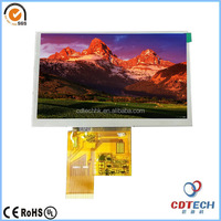"AUO 5""Active Matrix TFT LCD high luminance WVGA high resolution TFT LCD for industrial applications"