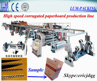 high speed 3/5 layer corruagted paperboard production line/corrugated cardboard making machine/packaging machinery CE