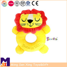 Baby toys manufacturers China soft baby lion rattle