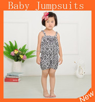 Hot sale new style organic cotton romper baby, pattern jumpsuit, girls boutique clothes fall 2015