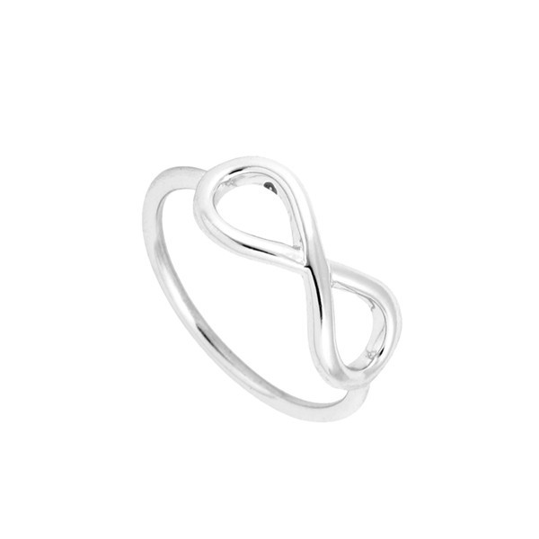 infinite love logo lovers gold finger ring gift OEM and ODM design number 8 Knuckle rings women