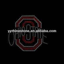 Ohio State rhinestone heat transfer
