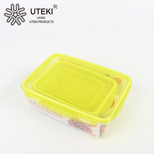 Plastic kitchenware pet food storage container with lid