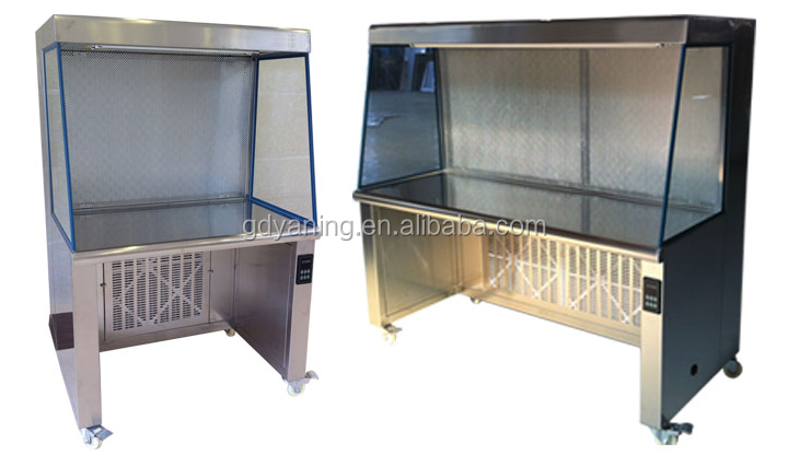 Double hanging glass door/No sections of balance weight /Can be any place to stay vertical clean bench