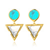 High Quality New Design Turquoise Stone Dangle Earrings