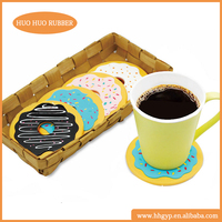 Recycled eco friendly material donut design soft pvc coaster