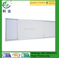 Sliding magnetic white board standard size for school