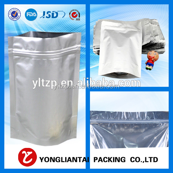 Stand up zipper pouch/food grade plastic food bags/zip lock bag for tea packaging