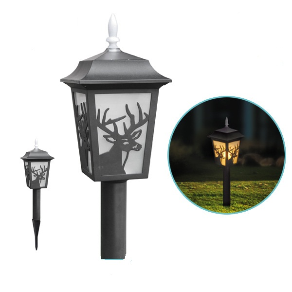 waterproof holiday party yard LED deer christmas Solar Outdoor garden lighting