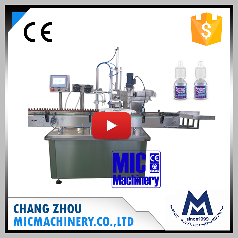 Mic machine L40 automatic eyedrop glass bottle filling capping machine for e-cigarette essential oil and eye dropper