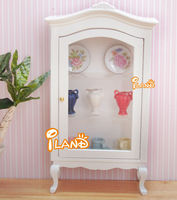 1:12 Scale Dollhouse Furniture Wooden Display Cabinet Collection Counters WD0222