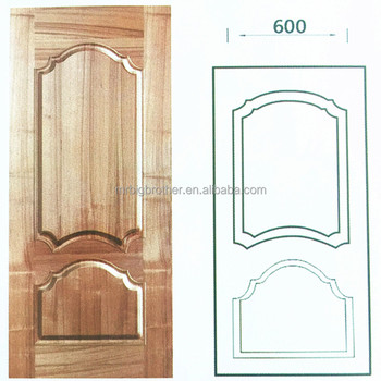 2017 Main door wood carving design made HDF wood veneer door skin
