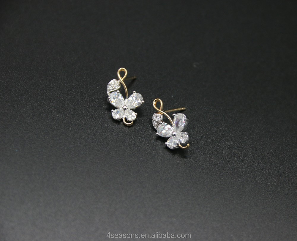Butterfly shape Zircon earring Jewelry ,jewelry earrings , gifts jewelry
