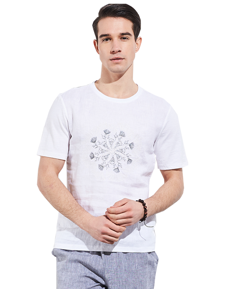 Cheap Men Linen <strong>T</strong>-<strong>shirt</strong> Short Sleeve Casual Print <strong>T</strong>-<strong>shirt</strong> March EXPO