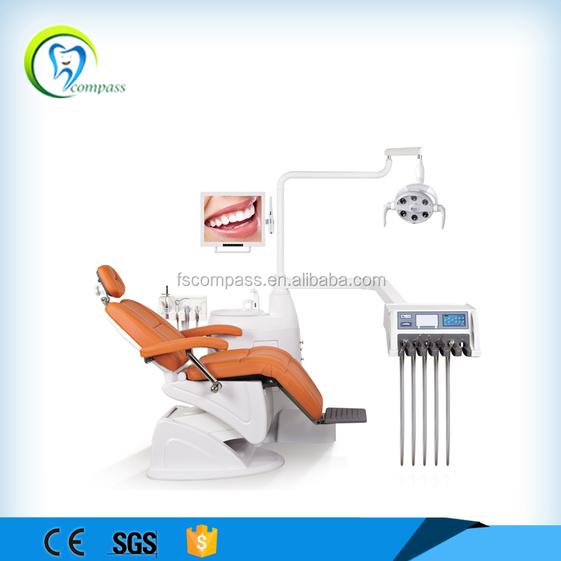 New folding dental unit with scaler, curing light, oral camera