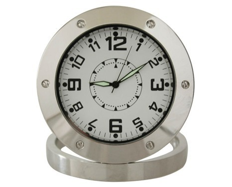 1080P Full HD spy camera clock 3mp wide angle160 degree table Clock camera Pinhole Spy Metal Clock Camera