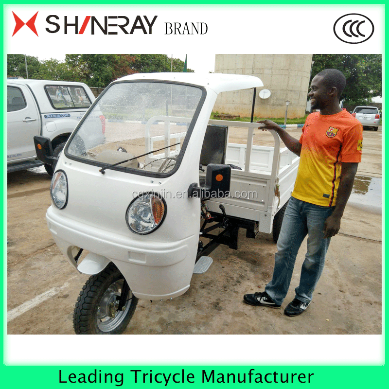 motorized China cargo tricycle with semi closed cabin tricycle hot sale in Africa