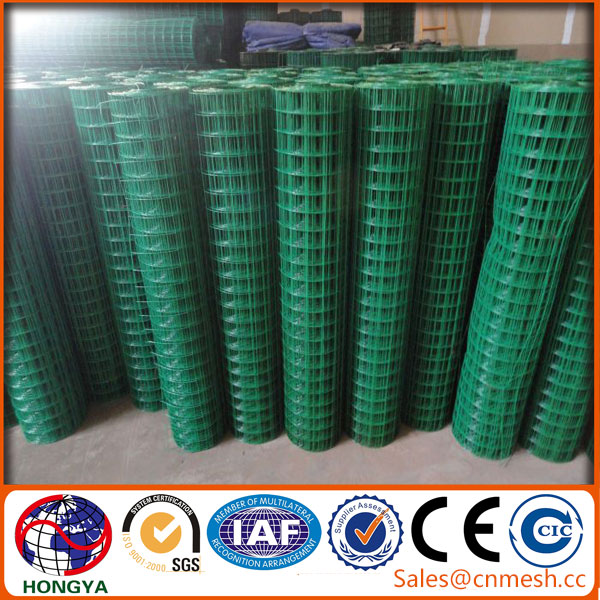 "China reliable factory 1/4"",1/2"" PVC coated / galvanized welded wire mesh"