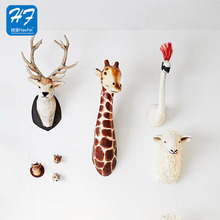 Chinese Supplier Customized All Kinds Of Soft Hanging Hanging Felt Animal Head Wall Decoration