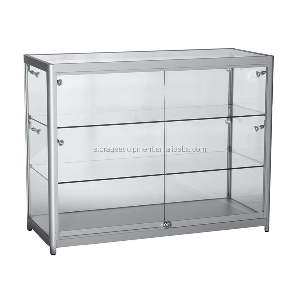New style wholesale glass display cases with different color