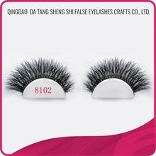 Qingdao factory supply beautiful long thick horse hair eye lashes with 5mm to 15mm length