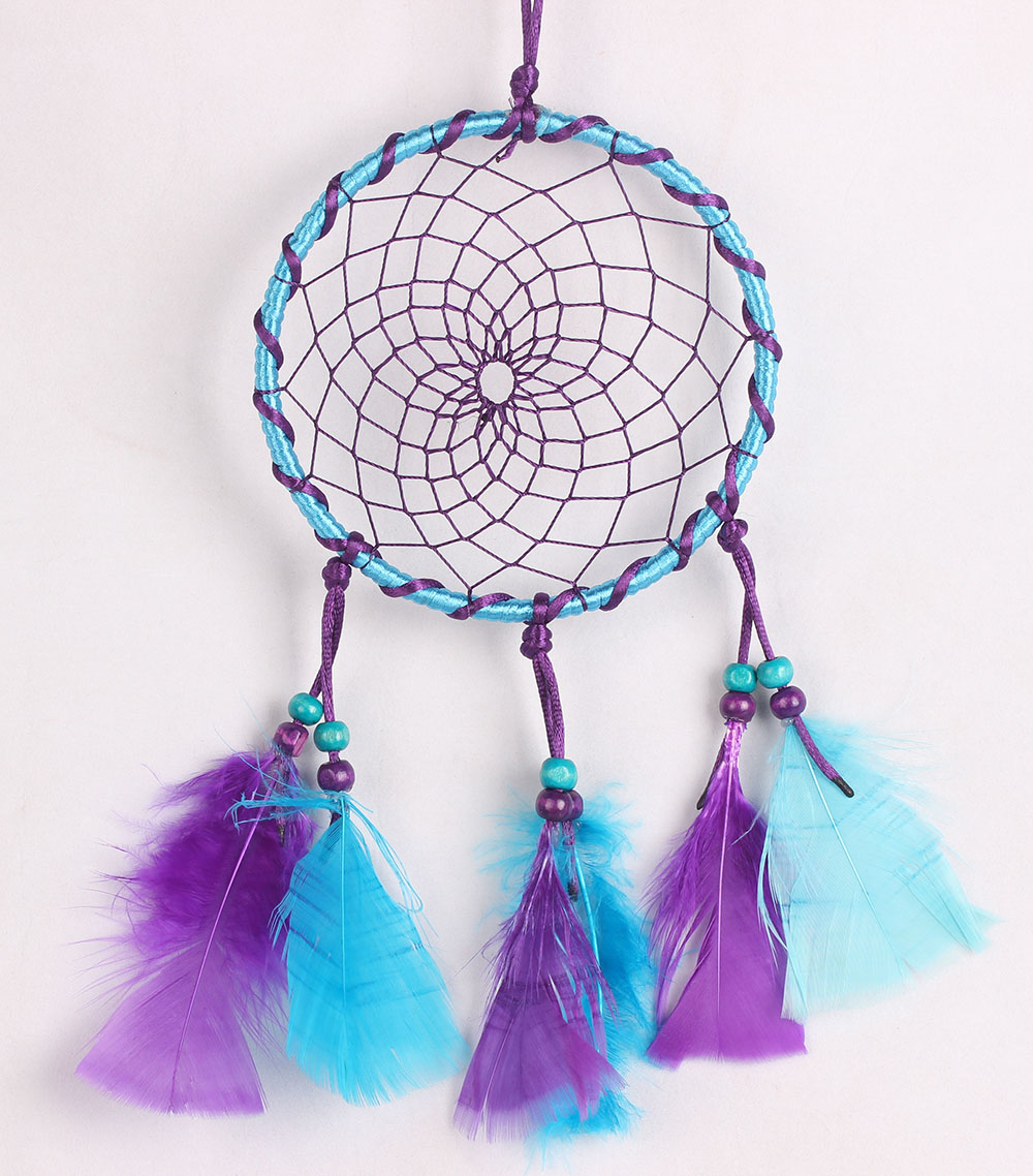 dyed turkey flats dream catcher MSL1563