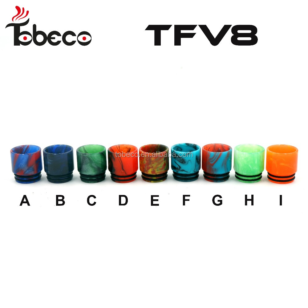 Tobeco 2017 new release TFV8 baby drip tip Epoxy Resin 510 TFV8 drip tips with best price