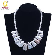 18*30mm shell pendant necklace classics style pearl statement necklace