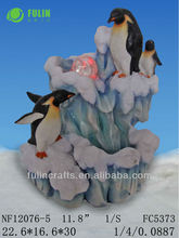 House Decor Resin Penguin Water Fountain Factory Direct Sale