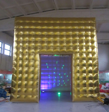 Customized Gold Coated Oxford Cloth Cube Dome Lighting Inflatable Tents for Event,Exhibition,Party Event