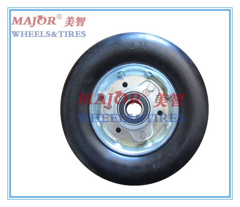Good quality 10X2.75 Solid Rubber Wheel