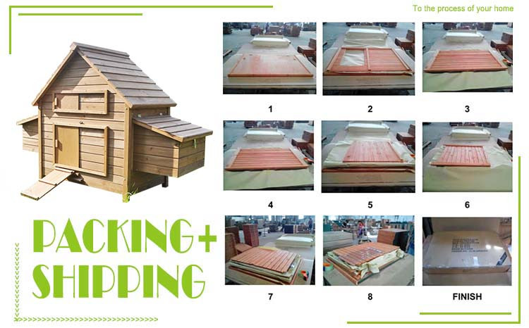 DXH005 Hot selling portable colorful wooden chicken coop