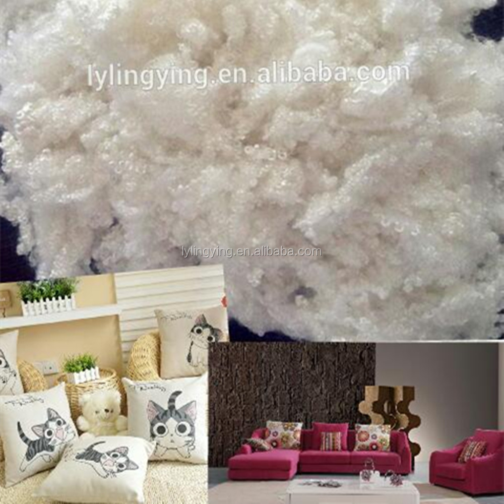excellent elasticity siliconized polyester staple fiber for home furnishing stuffing sofa cushion toys quilts filling material