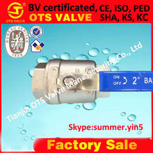 QV-SY-514 stainless steel 304 316 two piece ball valve Femal Thread 1000WOG