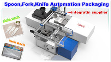 whole line solution tableware spoon fork knife CE automatic pick and packing robotic machine manufacturer
