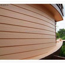 Good looking prefab house / natrual wood grain cement board for wall siding
