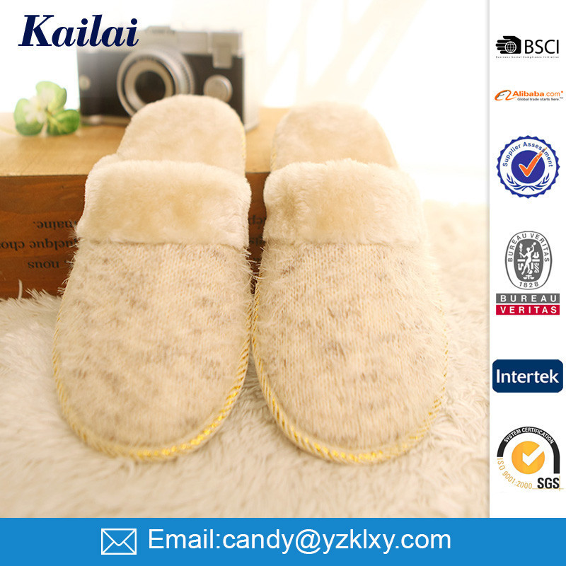 newest ariival wool felt wholesale slippers
