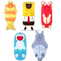 Custom plush stuffed animal shaped sleeping bag for baby