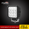 "High power square cree chip 4.25"" 27w off road led work light with CE ROHS certificates"